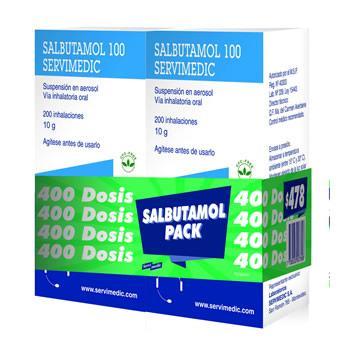 PACK Salbutamol x 400 dosis